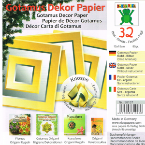 Gotamus Dekor Paper (32 Sheets)-Yellow