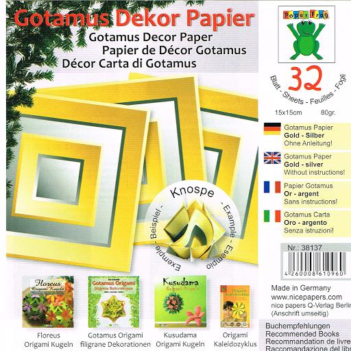 Gotamus Dekor Paper (32 Sheets)-Yellow
