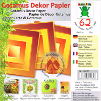 Gotamus Dekor Paper (62 Sheets)-Red