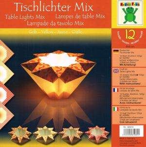 Origami Tealight Holders -Yellow