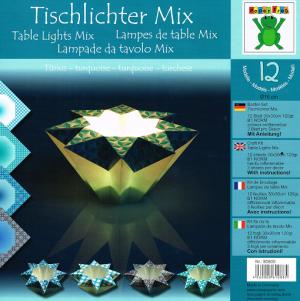 Origami Tealight Holders -Turquoise