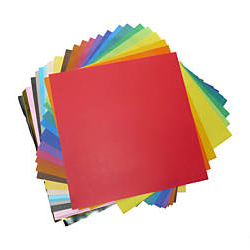 24 Sheets Single Sided 30cm Craft / Origami Paper