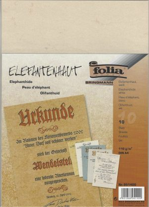 10 A4 Sheets Elephant Hide Paper by Folia