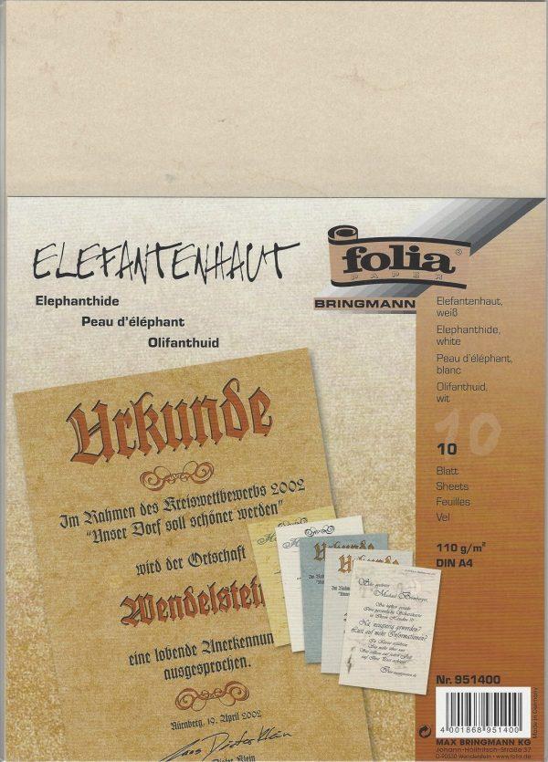 10 A4 Sheets Elephant Hide Paper by Folia