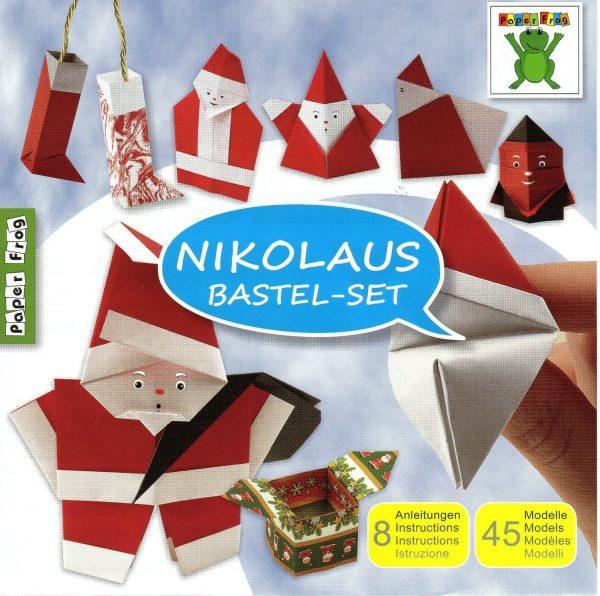 Father Christmas (Nikolaus) Folding set 60 Sheets 15cm Origami Paper