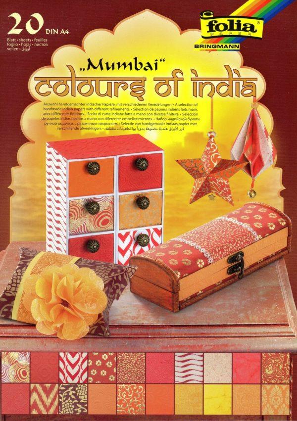 Folia Colours of India 20 Sheets of Handmade Paper