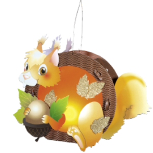 Children's Lantern Kit-Squirrel